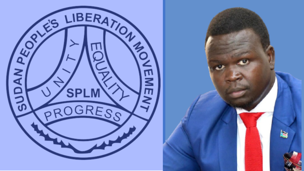 SPLM-IO Director of Information and Public Relations Puok Both Baluang. [Photo by Sudans Post]