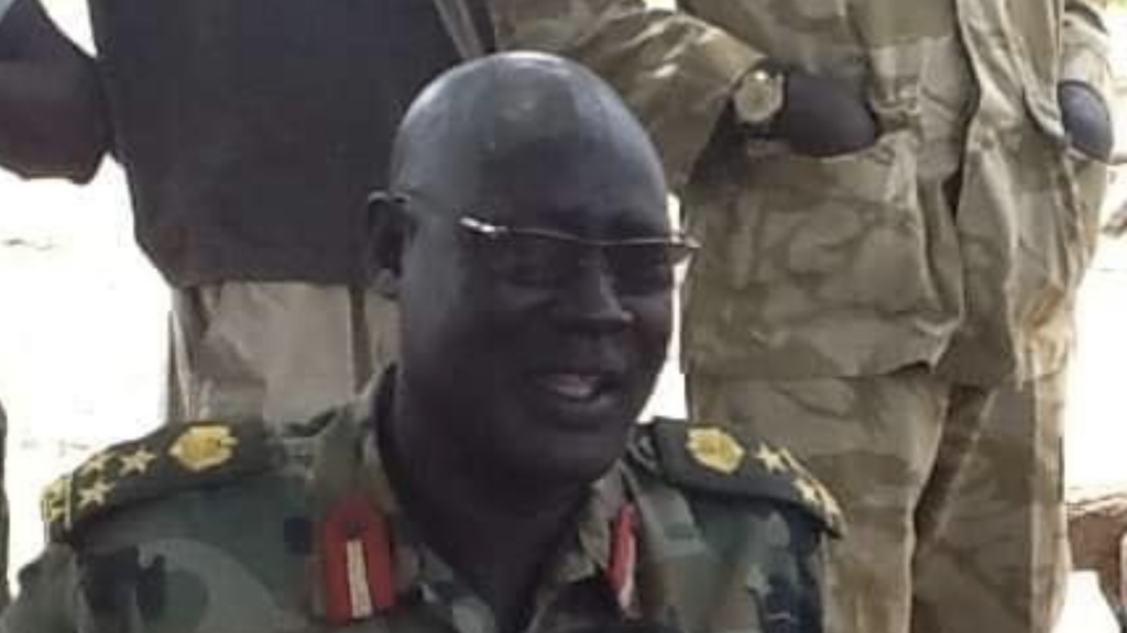 Newly-appointed SSPDF's 3rd infantry division commander General Akuei Ajou. [Photo via Facebook]