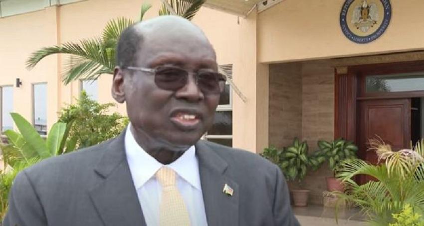 South Sudan's minister of presidential affairs Dr. Barnaba Marial Benjamin speaking to Al Jazeera. [Photo screengrab from Al Jazeera TV]