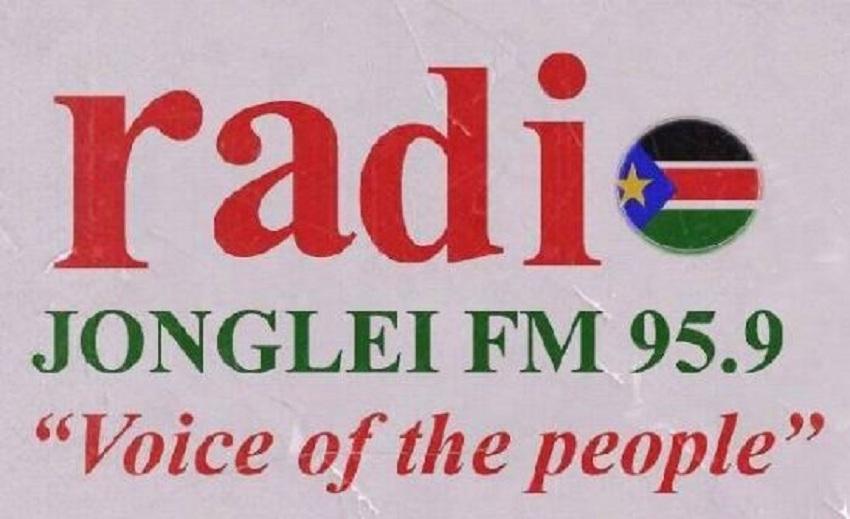 Billboard of the Radio Jonglei station. [Photo supplied to Sudans Post]