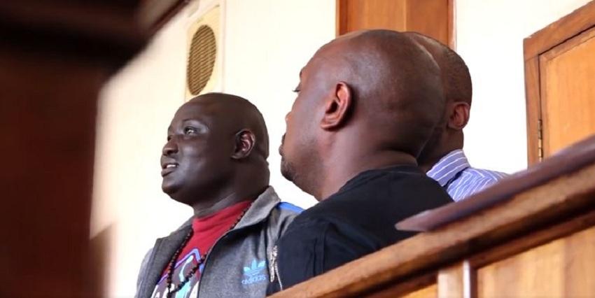 Businessman Lual Malong Yor aka young Tycoon standing in a Uganda court. [Photo screen grab]